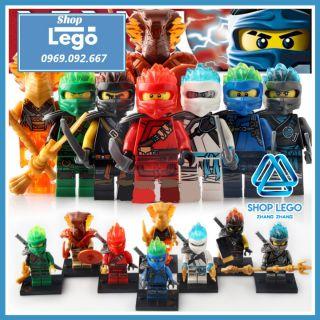 Xếp hình Ninjago đại chiến tộc Rắn Lego Minifigures PRCK GA115 - 122 thumbnail