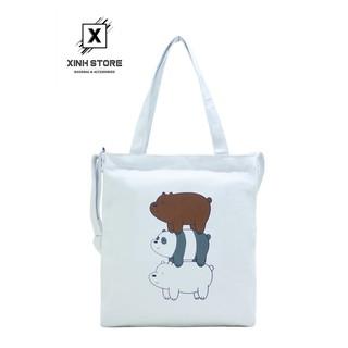 Túi Vải Đeo Chéo Tote Bag 3 Gấu Chồng XinhStore thumbnail