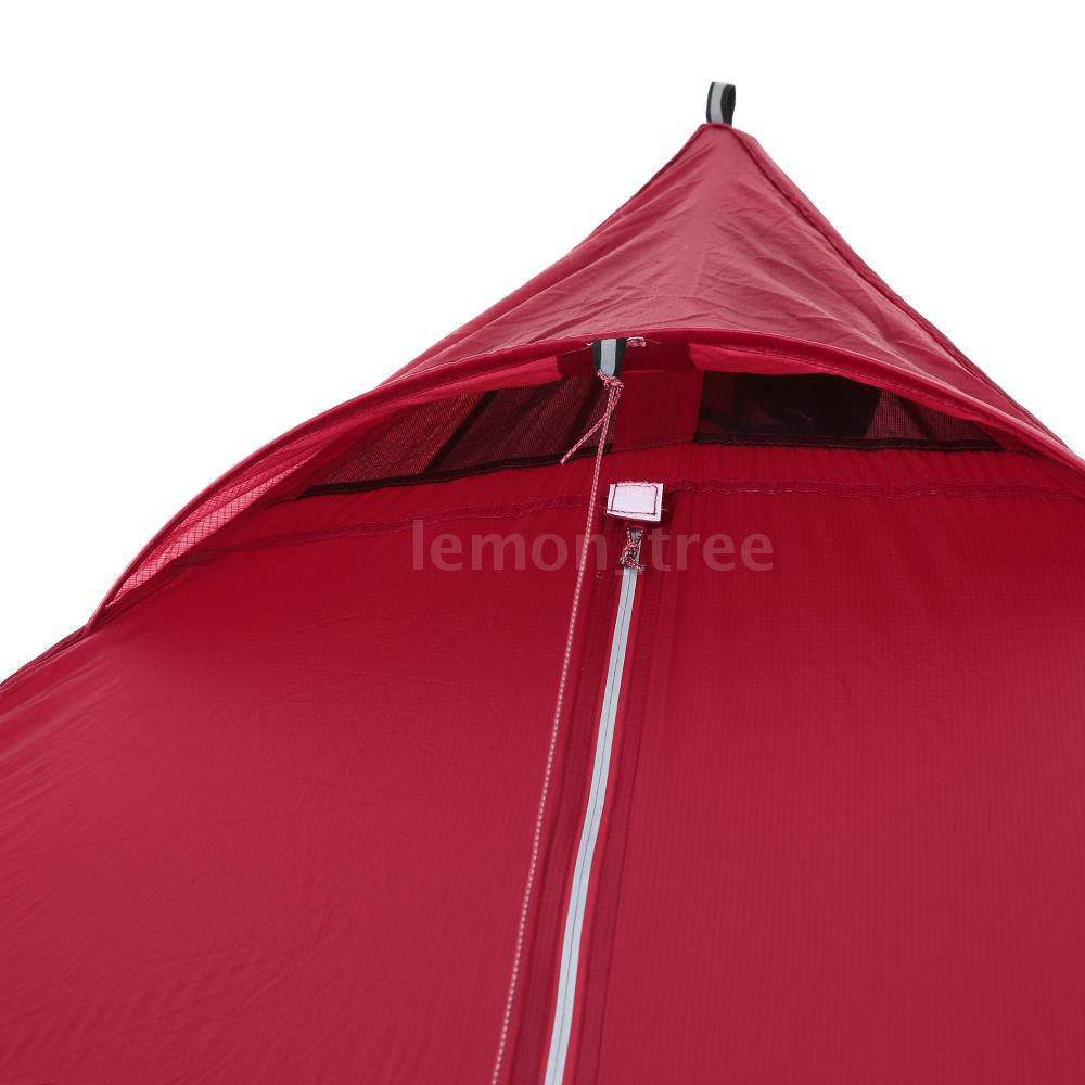 Ultralight 2 Person Tent Portable Backpacking Tent Double-Side Silicone Coating Water-resistant Outdoor Camping Tent Ta