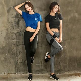[Mã WASEPRN hoàn 20% xu đơn 99k] Bộ quần dài Legging và áo thun thể thao phong cách Hàn Quốc ( Đồ tập Gym, Yoga )