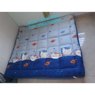 Nệm TOPPER mẫu Mèo Ngủ/Nệm trải sàn ngủ gấp gọn (size 1m6 & 1m8)