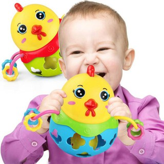 huixin Cute Chicken Baby Rattle Musical Mobile Baby Music Toy Handbell Shaking