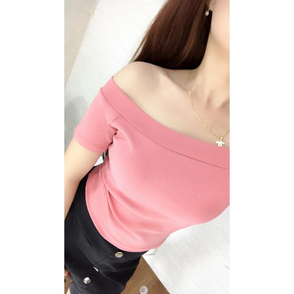 Áo bẹt vai hàng đẹp thun cotton dày C2020