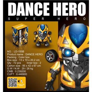 Đồ Chơi Robot Nhảy Múa Dance Hero – Spider Man _ Iron Man _ Bumblebee Nhảy Múa Theo Nhạc Có Đèn Siêu Ngầu Siêu Hot