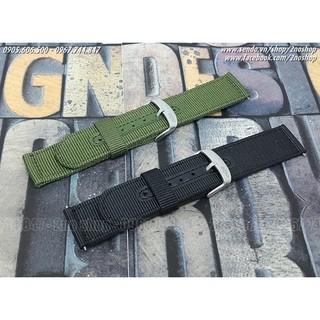 Dây đồng hồ vải Nato oDo bản rộng 18mm, 20mm, 22mm, 24mm - Mã số: D1611