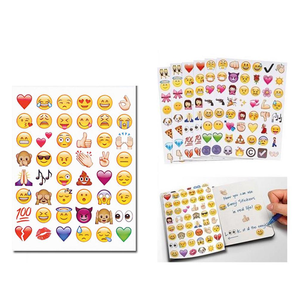 Smile Face Expression Emoji Stickers for Diary Photo Album Reward Notebook School Teacher Merit Praise Decor