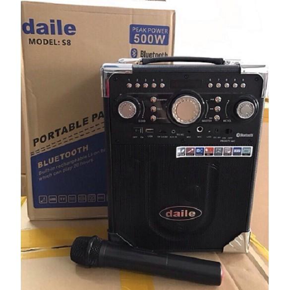 Loa kéo karaoke daily S8 tặng 1 Mic không dây - 2999138 , 1101535351 , 322_1101535351 , 920000 , Loa-keo-karaoke-daily-S8-tang-1-Mic-khong-day-322_1101535351 , shopee.vn , Loa kéo karaoke daily S8 tặng 1 Mic không dây