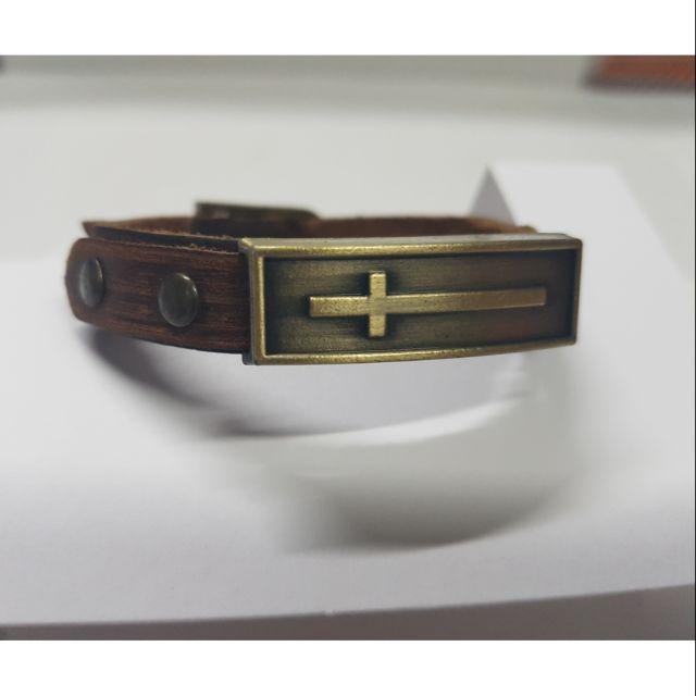 Vòng đeo tay dây da thật