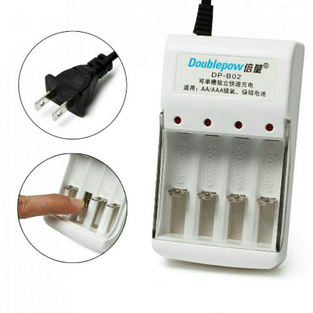Bộ sạc đa năng Doublepow DP-B02 dùng sạc cho 4 viên pin tiểu AA hoặc AAA
