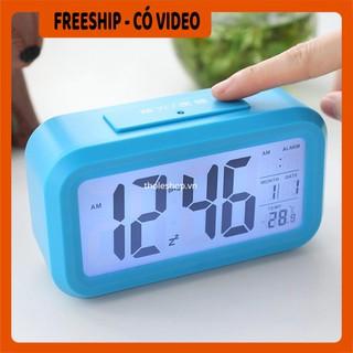Đồng hồ Alarm  BH 1 THÁNG   Đồng hồ báo thức hình Led, hiện thị cả nhiệt độ phòng, ngày tháng 4255