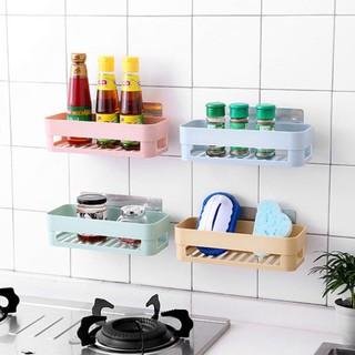 [G032] Kệ nhựa treo tường nhà tắm, nhà bếp dán tường chịu lực S029