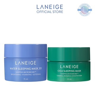 [HB GIFT] Bộ dưỡng ẩm da từ trong giấc ngủ Water Sleeping Mask 15ml và Cica Sleeping Mask 10ml Laneige thumbnail