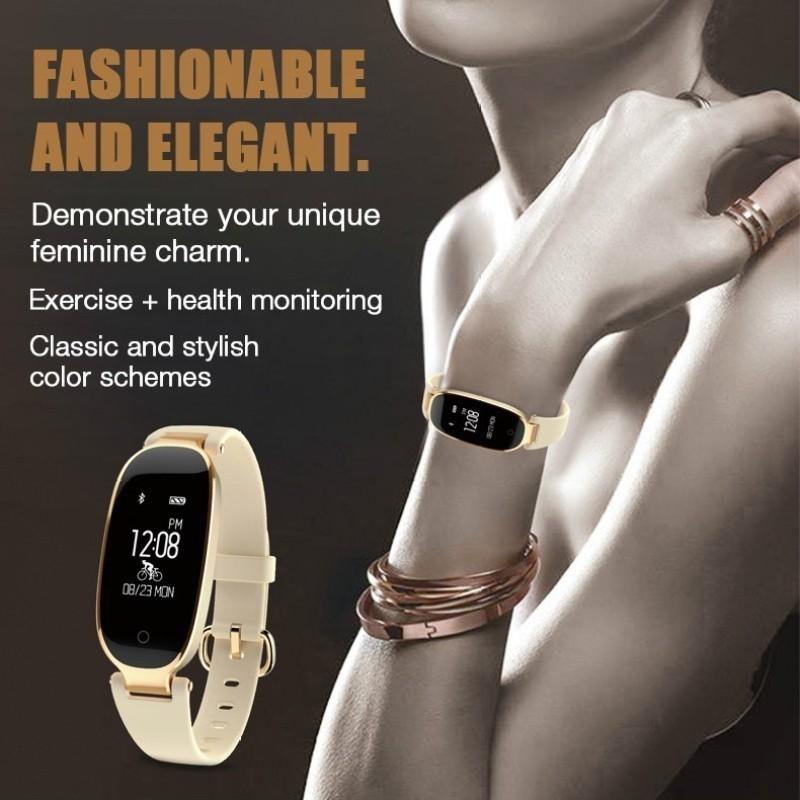 Đồng hồ Bluetooth thể thao thông minh có chức năng theo dõi nhịp tim và chống thấm nước cho nữ