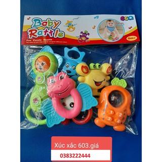 bộ xúc xắc 6 món cho bé yêu chất liệu an toàn cho bé