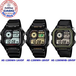 Đồng hồ nam Casio điện tử AE-1200 AE-1200WH-1AV AE-1200WH-1B AE-1200WHB bảo hành 1 năm chính hãng - chống nước- báo thức thumbnail