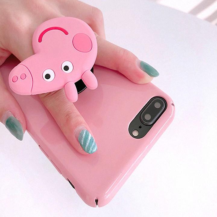 Nút đỡ điện thoại 💕 Free Ship 🤩 Nút gắn điện thoại hình thú dễ thương