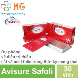 Avisure Safoli - Giúp phòng và điều trị thiếu sắt và acid folic trong thời kỳ mang thai (Hộp 30 Viên) thumbnail