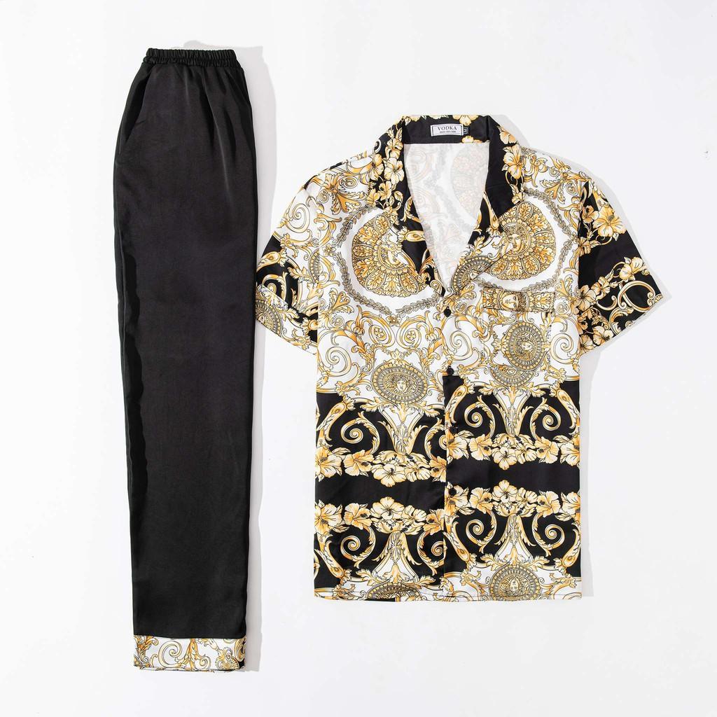 Mặc gì đẹp: Ngủ ngon với [Xả hàng đẹp] Đồ ngủ nam Pijama lụa ngọc trai cao cấp