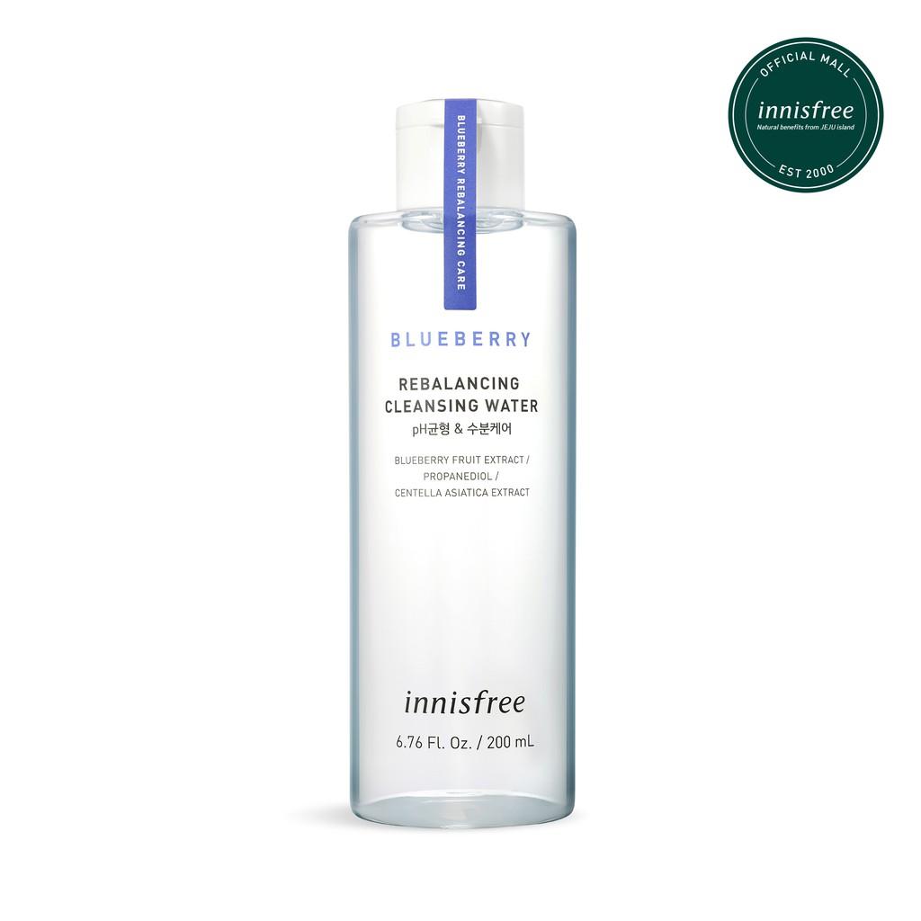 Nước tẩy trang từ blueberry innisfree Blueberry Rebalancing Cleansing Water 200ml