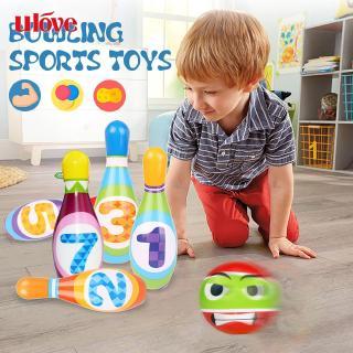 UVE ● Plastic Outdoor Sports Games Mini Bowling Club Set Children'S Gift Children Outdoor Sports Toys Mini Bowling Toys