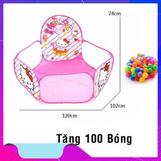 Lều bóng họa tiết hoạt hình tặng kèm 100 trái banh nhựa (KT chuẩn) – HÀNG CHẤT LƯỢNG CAO