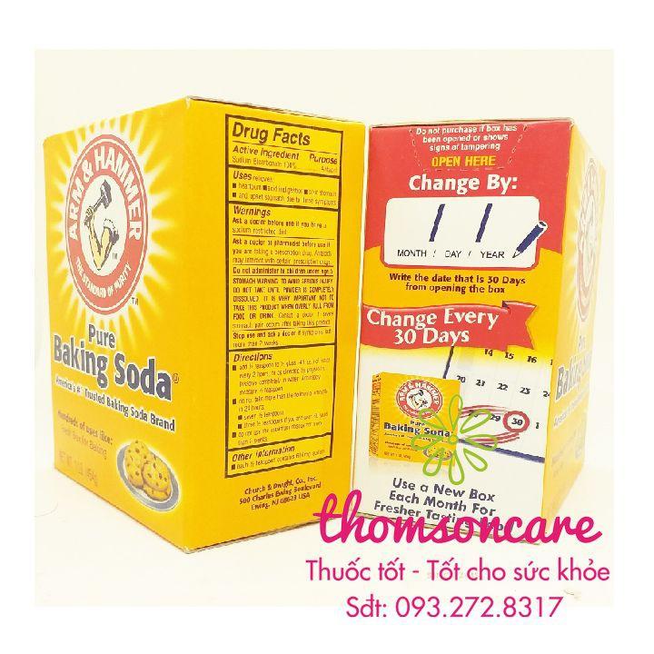 Baking Soda - Bột làm trắng răng, giúp tẩy tế bào da chết - Nhập khẩu từ Hoa Kỳ