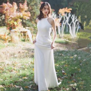Váy Cưới Đuôi Cá Thiết Kế Đơn Giản Trẻ Trung Phong Cách Hàn Quốc