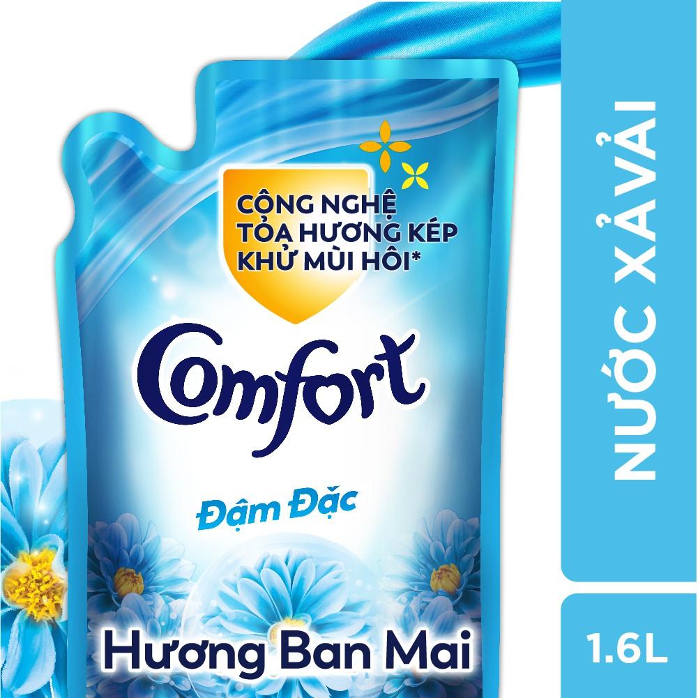 Nước xả vải Comfort Đậm Đặc Hương Ban Mai túi 1.6L