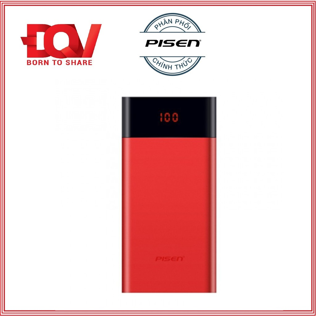 Sạc dự phòng Pisen Color Power Pro 10000mAh (Dual USB )