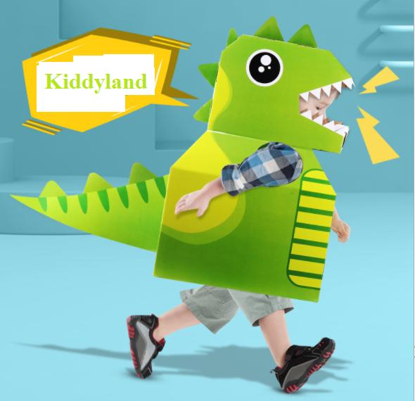 Đồ chơi mô hình hóa trang Khủng Long, Máy Bay, Cá Mập Cosplay bằng Carton cho bé