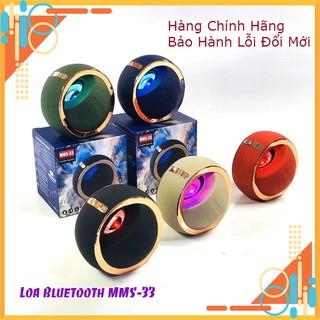 Loa Bluetooth MMS 33, Loa không dây, Đèn Led Đổi Màu, Âm Thanh Trầm Ấm