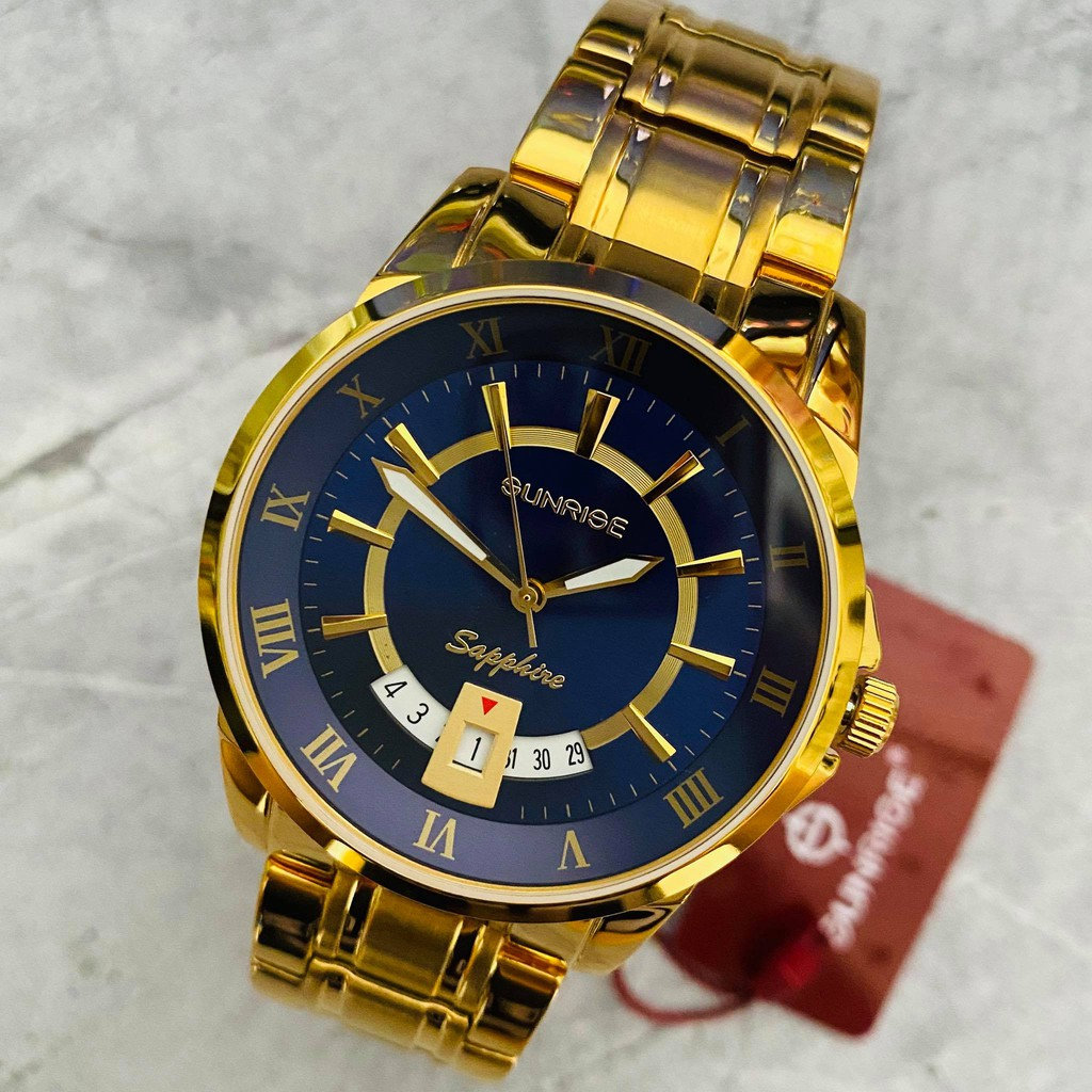 Đồng hồ Sunrise nam chính hãng Nhật Bản M771SWB.G.X - kính saphire chống trầy - bảo