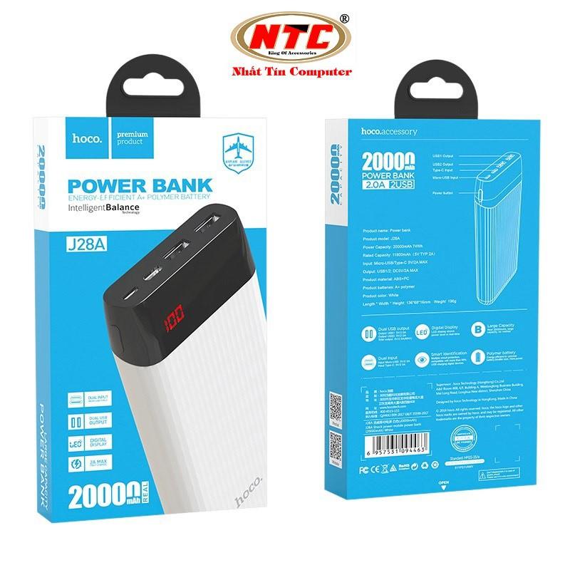 Pin sạc dự phòng Hoco J28A Shock power 20000mAh