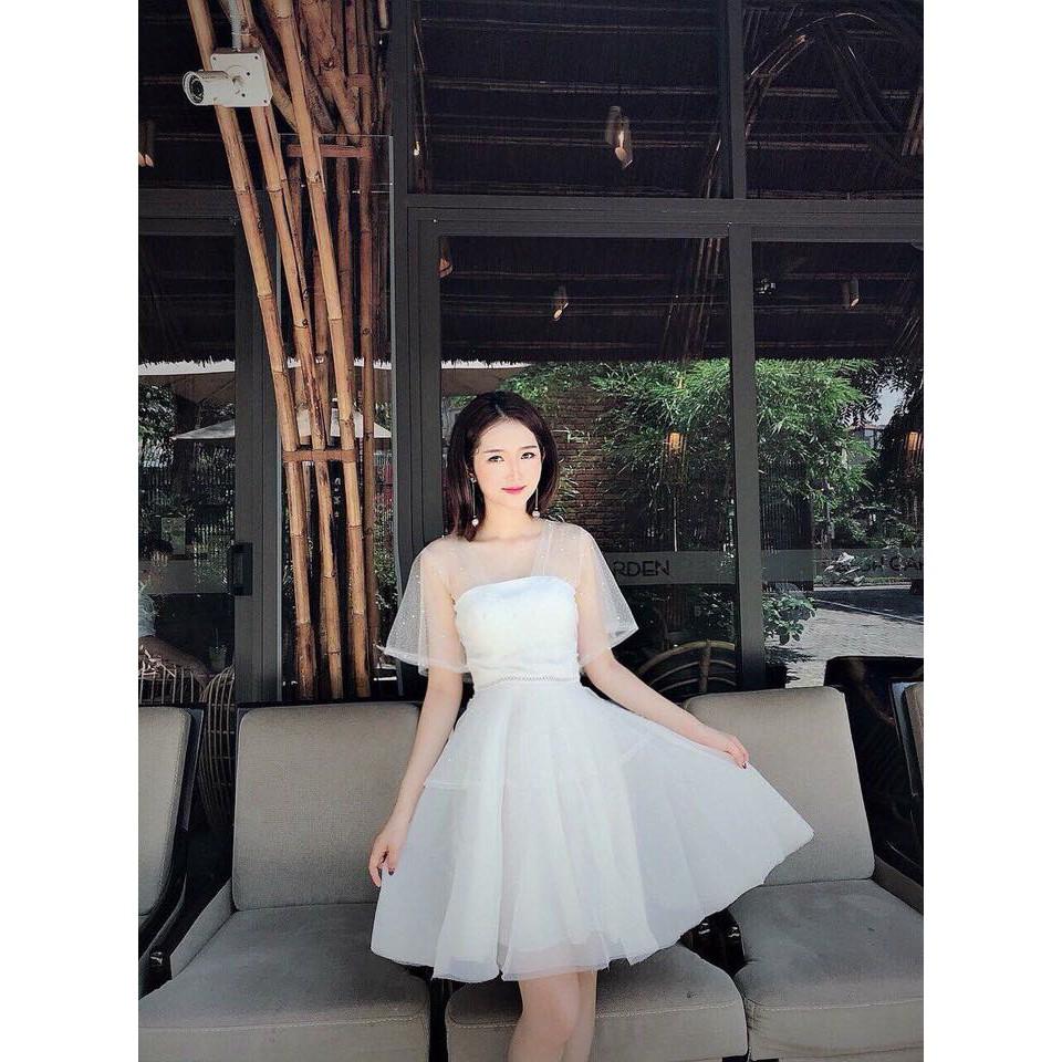 Mặc gì đẹp: Sang chảnh với Đầm dự tiệc trắng xòe đính chuỗi sang chảnh bậc nhất