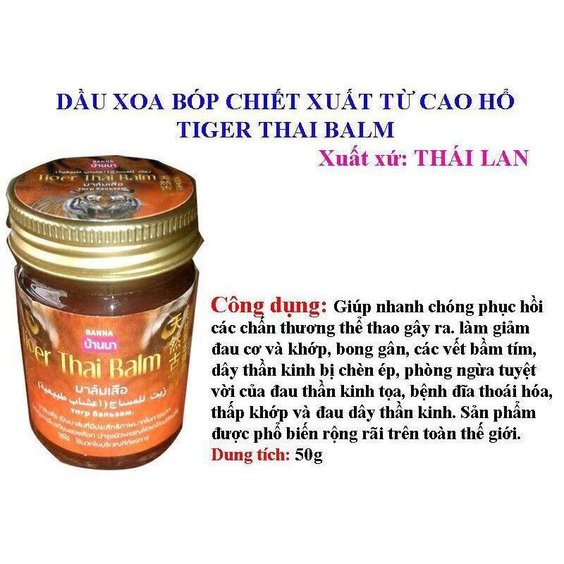 Combo 3 Hũ Dầu Cù Là Cao Rắn-Hổ-Bò Cap Thái Lan 50gr