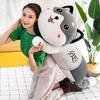 Cute Husky Plush Toy Doll Ragdoll Erha Doll Bed Sleeping Pillow Birthday Gift Men and Women