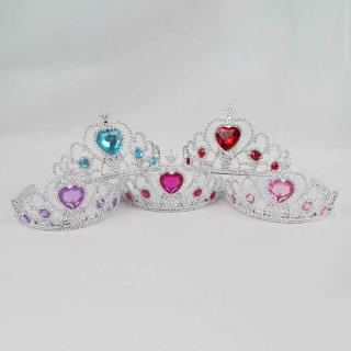 LY 2 Pcs Set Princess Crowns Wands Pretend Jewelry Toy Girls Princess Party Supply