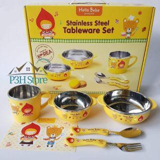 Bộ bàn ăn cho bé Lock&Lock Hello Bebe LBB473S4 LKT423S4 thumbnail