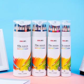 Hình ảnh Bút chì màu chuyên nghiệp dạng cốc Deli 24/36/48 màu - 68123/68124/68125-5