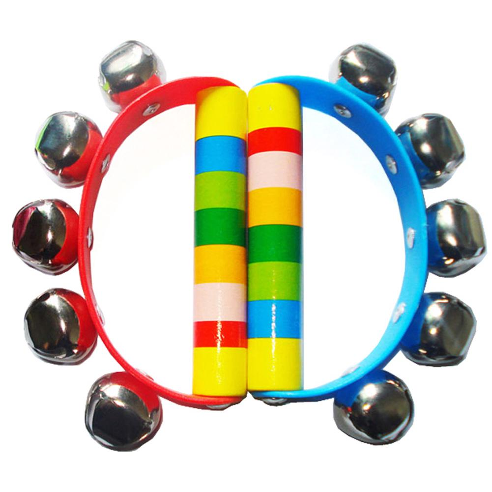 Toy Jingle Baby Tambourine Rhythm Handbell Shaking Educational Intelligent