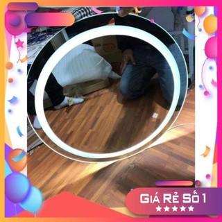 [Gía Hủy Diệt] Gương Tròn Led Phun Cát 💎 Gương Treo Tường Đèn LED 💎 D50cm 💎 Mirror Decor 360