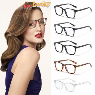 LUCKY🔆 Retro Frame Blue Light Blocking Lightweight Eye Eyestrain Computer Glasses Vision Care Cut UV400 with Spring Hinges Nerd Reading Gaming Glasses Eyewear Unisex Glasses