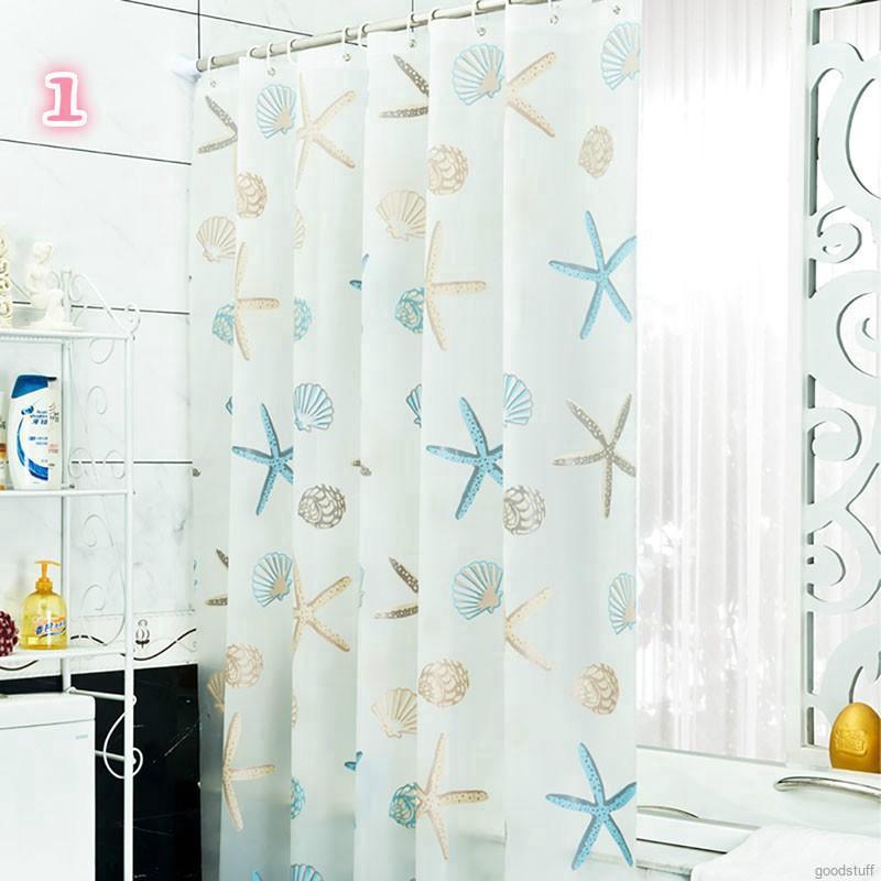 Rèm phòng tắm chống thấm nước in họa tiết hiện đại