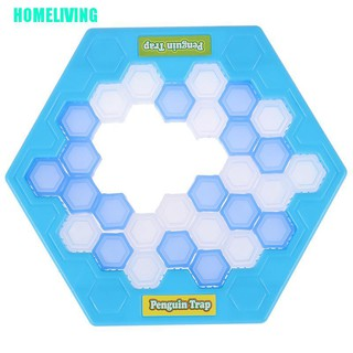 HOMELIVING▷Mini Penguin Trap Board Game Ice Breaking Save The Penguin Party Game