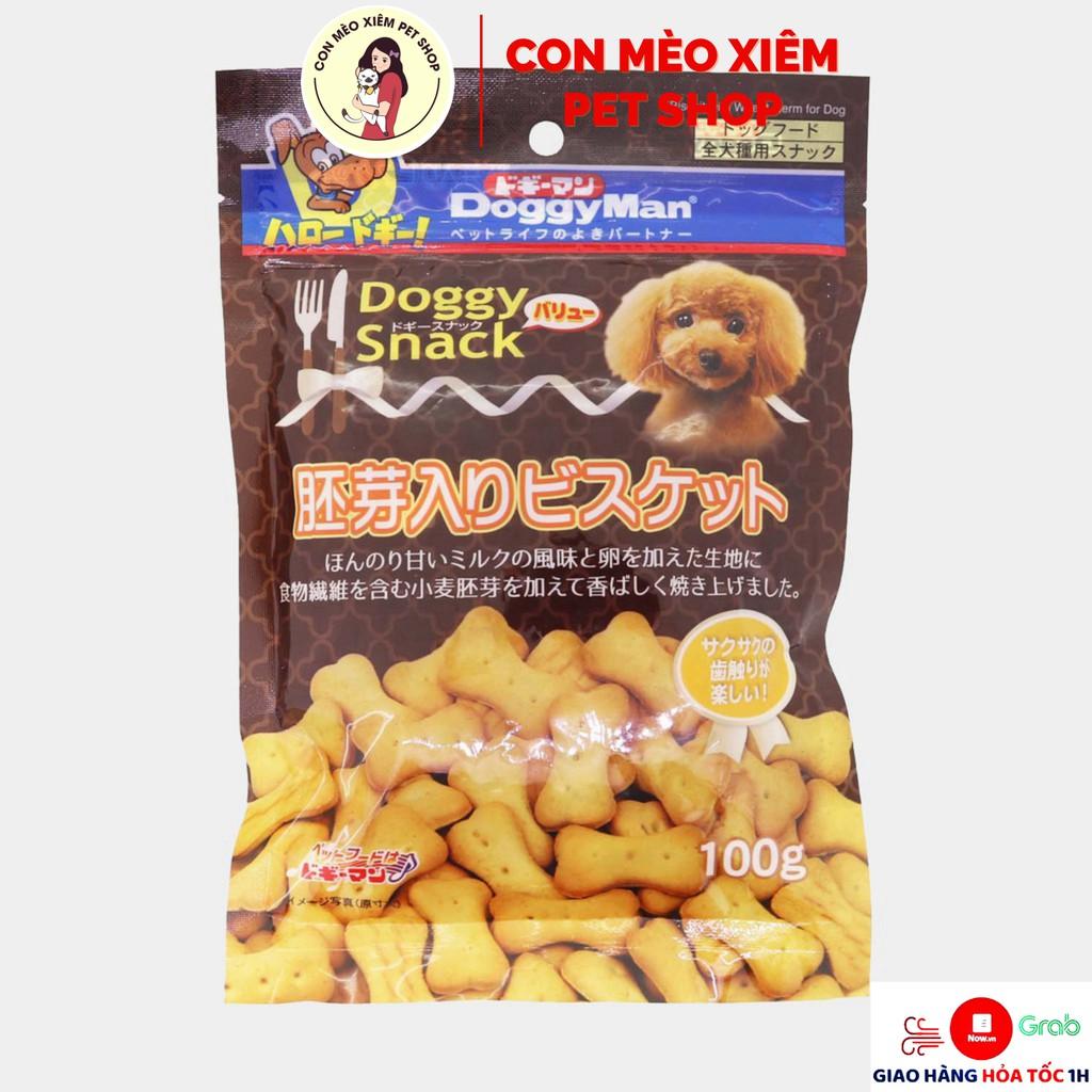 Bánh cho chó bánh quy trứng Doggyman 100gr - Thức ăn cho chó sạch răng, thơm miệng Con Mèo Xiêm