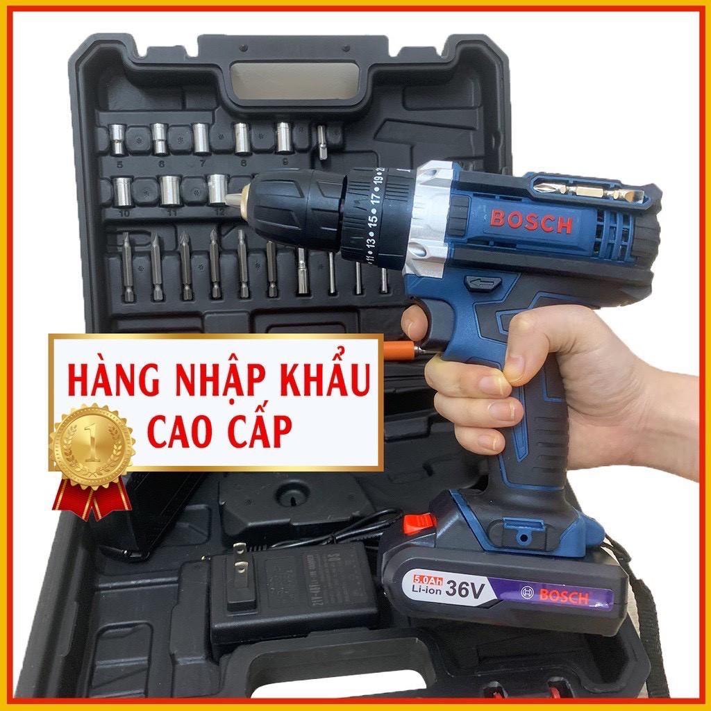 MÁY KHOAN PIN BẮT VÍT BOSCH 36V - 3 CHỨC NĂNG - ĐẦY ĐỦ ĐỒ NGHỀ - KHOAN  TƯỜNG BẮN VÍT - LOẠI 1 tại Bắc Ninh