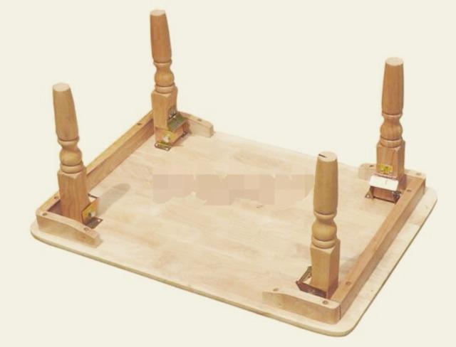 Bàn xếp gỗ chân tiện 60x90x30