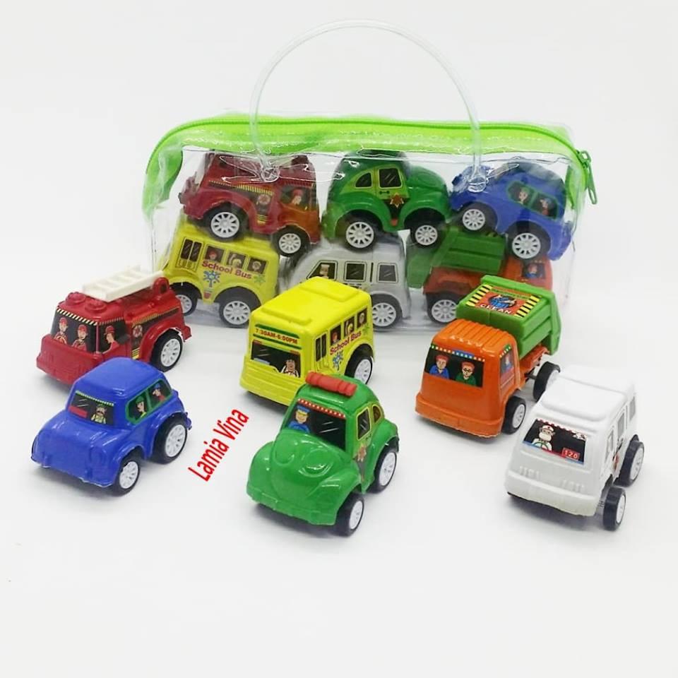 Túi 6 ô tô trẻ em mini chạy cót