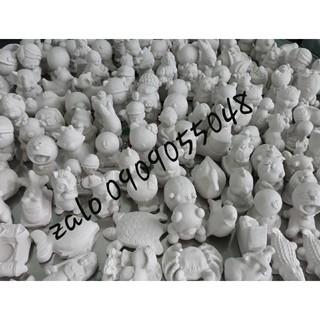 10 tượng tô màu thạch cao 10cm-12cm + 2 cọ + 180ml màu (màu nhiều gấp 3 lần so với thị trường)
