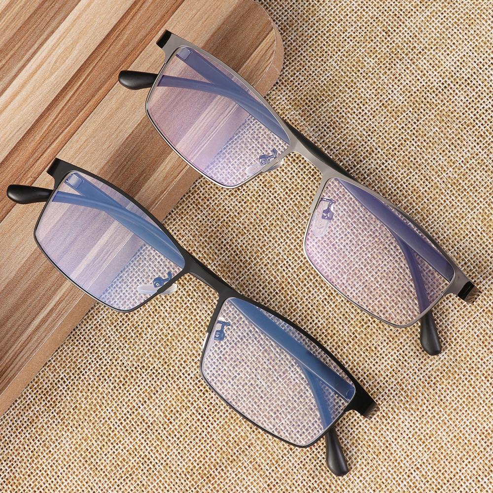 ROW Square Eye Glasses Frames for Men Fashion Anti Blue Light Business Eyeglasses Flat Mirror Classic Vision Care Eyewear Vintage...